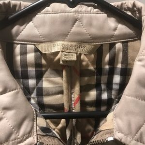 100% Authentic Burberry Quilted Beige Jacket